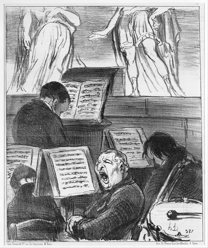 Daumier, The Orchestra During the Performance of a Tragedy, 1852