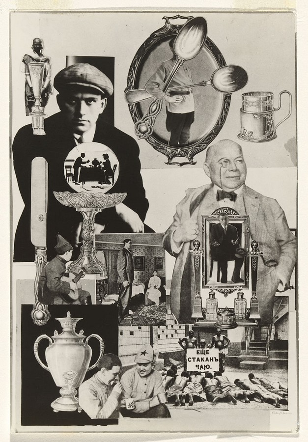 Rodchenko, Everyday life, Photomontage for Mayakovsky Pro Eto, 1923