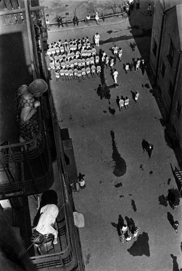 Rodchenko, Gathering for Demonstration, 1928