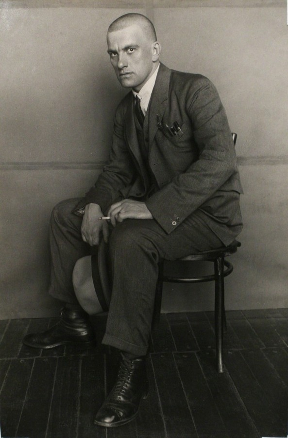 Rodchenko, Poet Vladimir Mayakovsky On the Chair, 1924