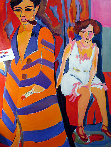 Ludwig Kirchner, The artist and his model, 197