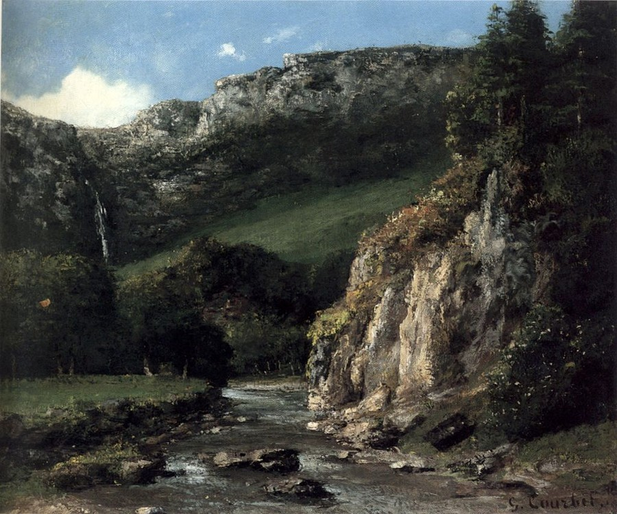 Courbet, The Torrent, 1872
