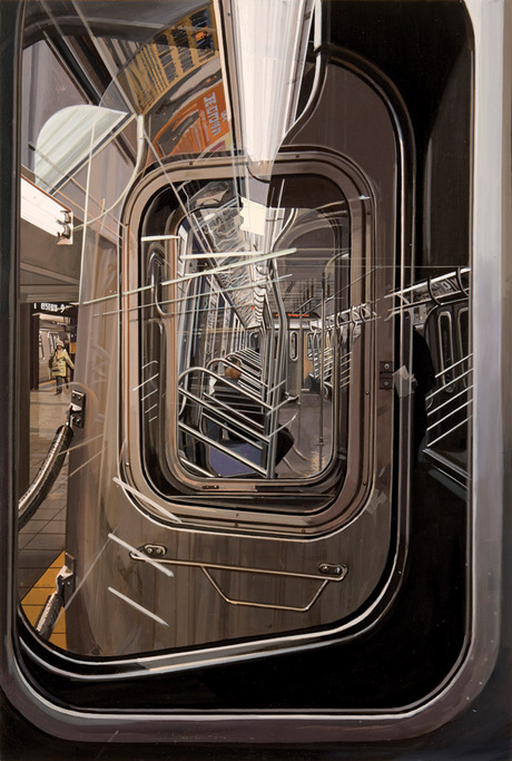 Richard Estes, The L Train at 14th Street, 2015