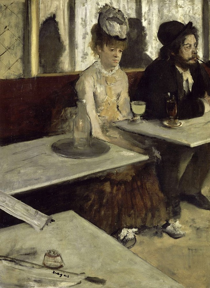 2. Edgar Degas, In a Cafe - L'Absinthe, 1875–76