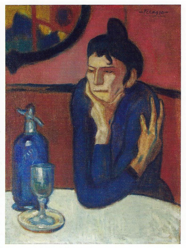 6. Pablo Picasso, The Absinthe Drinker, 1901
