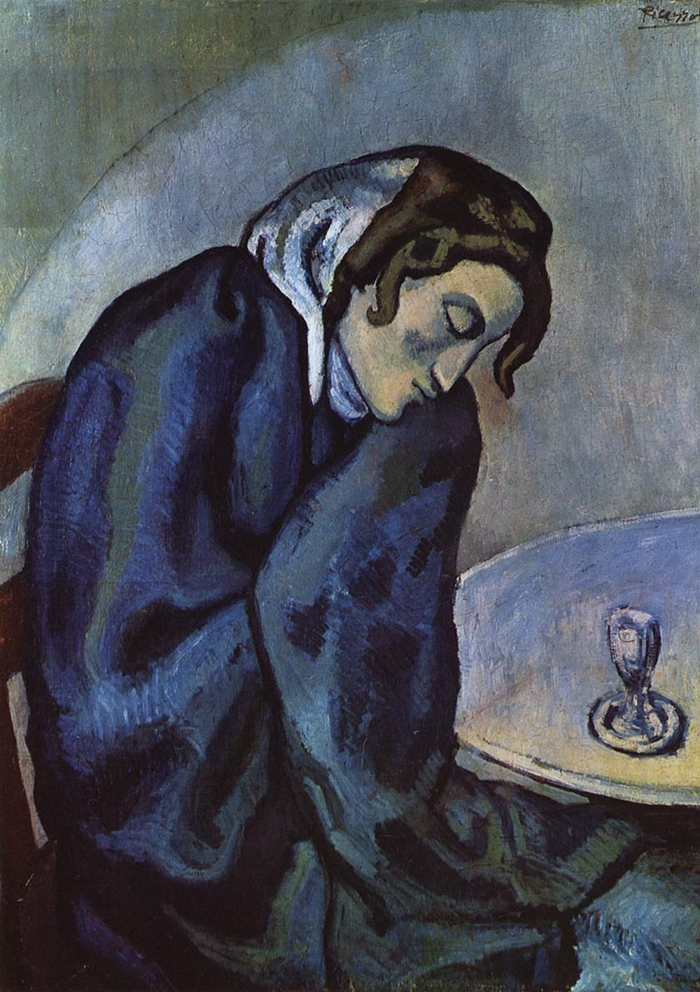 8. Pablo Picasso, The Absinthe Drinker, 1902