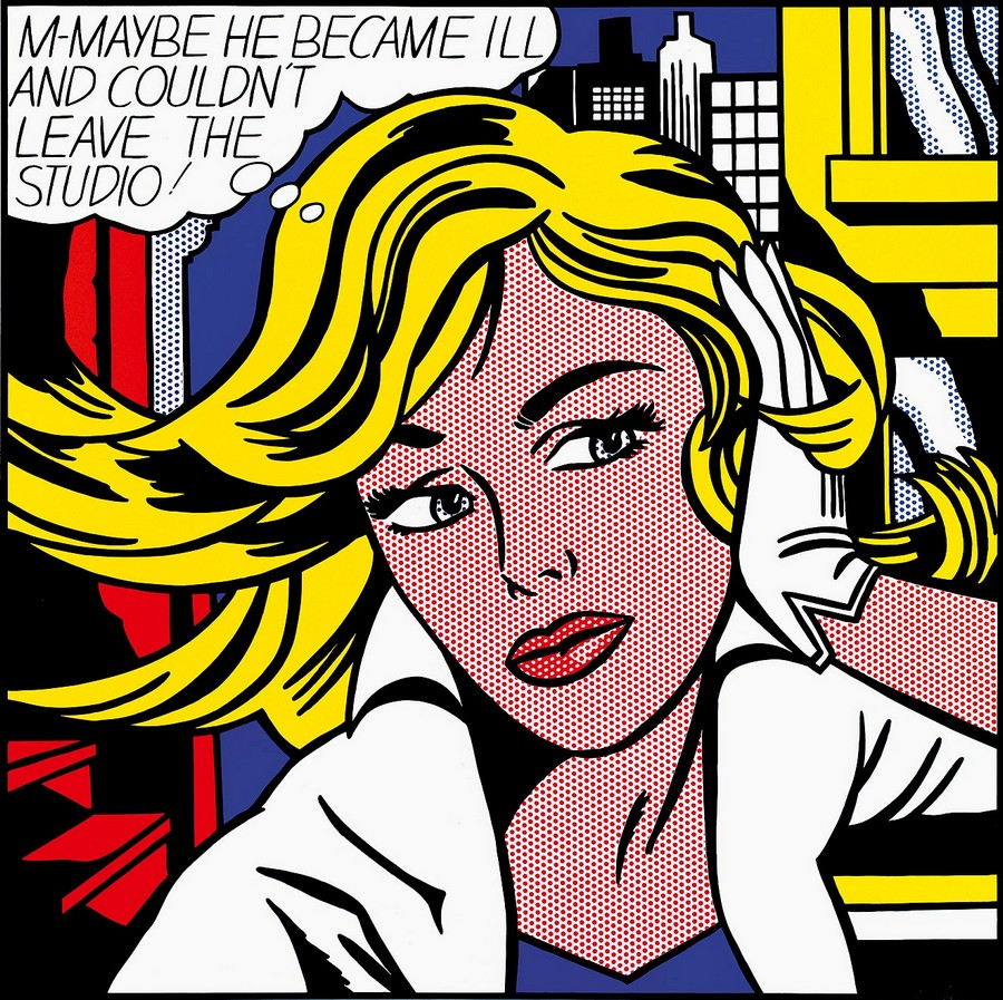 Roy Lichtenstein, M Maybe, 1965