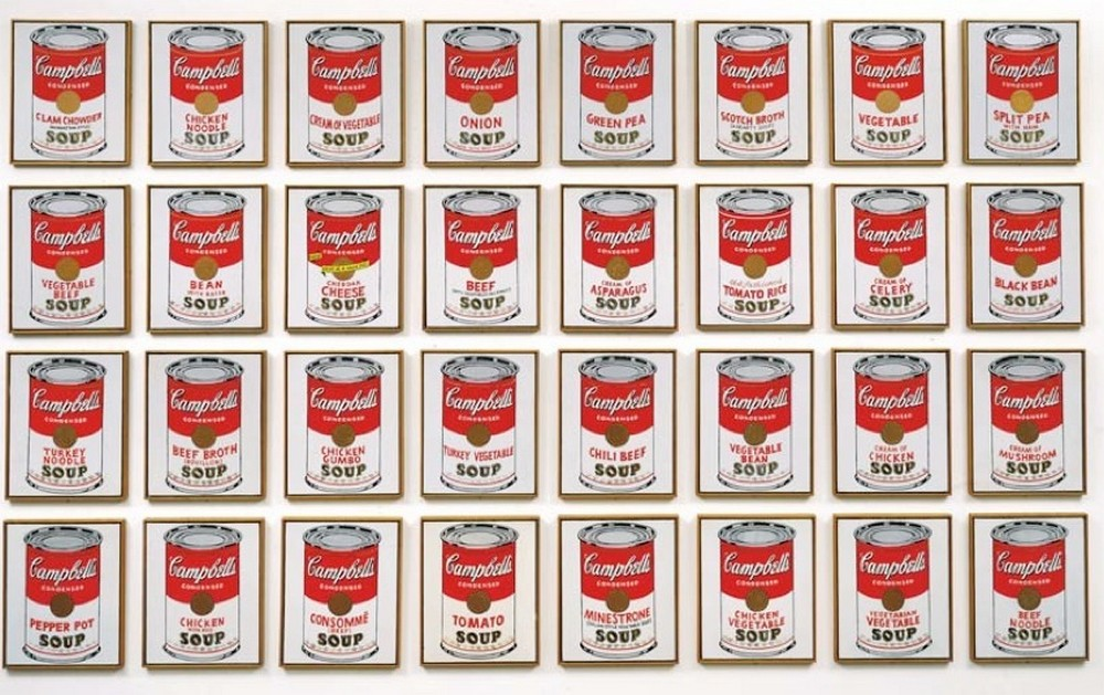 Andy Warhol, Cambell's Soup Cans, 1962