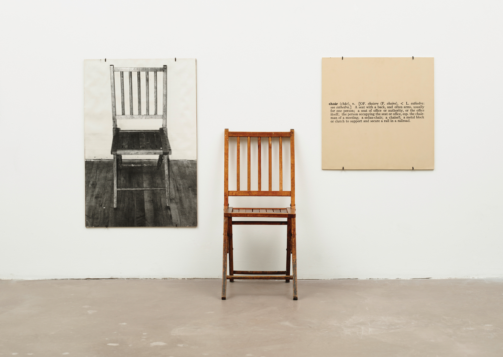Kosuth One and three chairs 1965