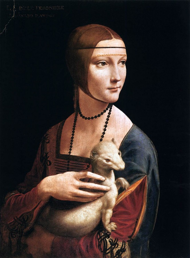 Leonardo da Vinci, Lady with ermina, 1489-90