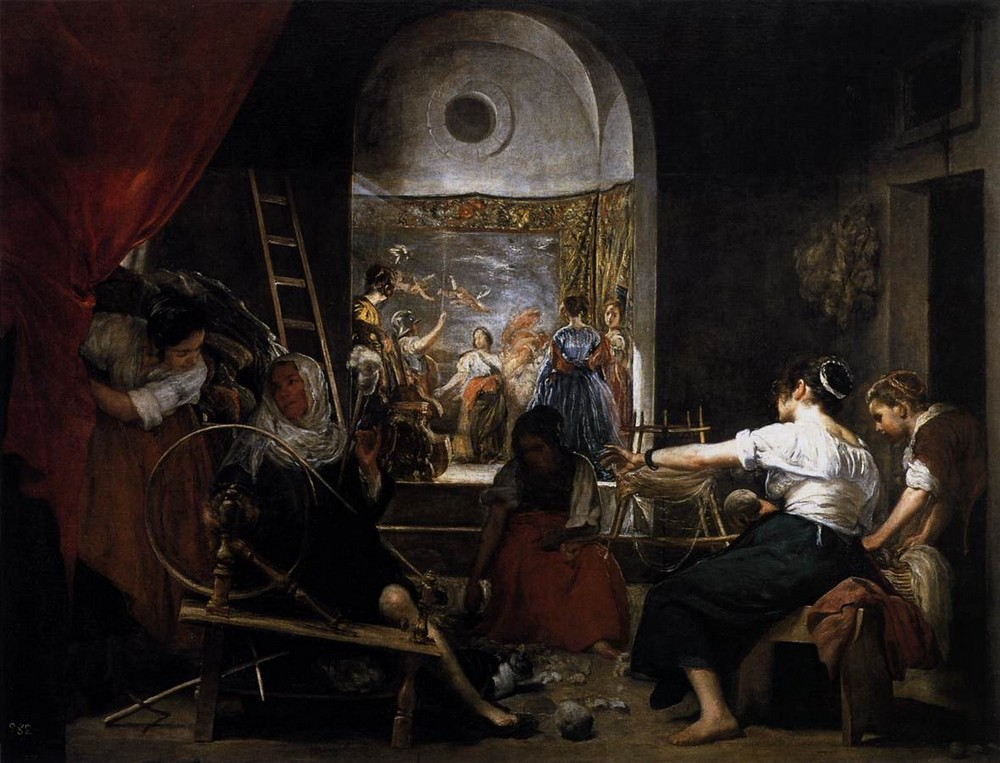 Velazquez, The Fable of Arachne (Las Hilanderas), 1644-48