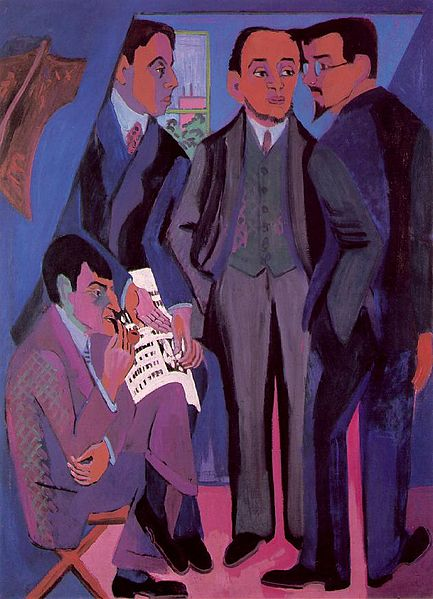 Kirchner, A Group of Artists, 1926-27