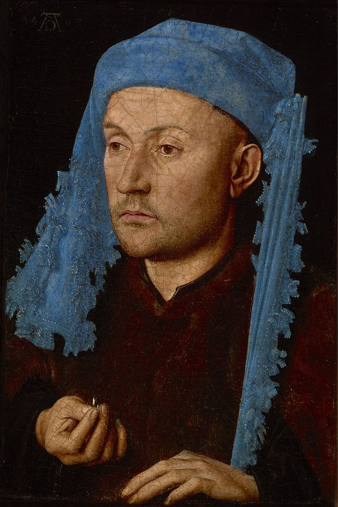 Jan van Eyck, Portrait of a Man with a Blue Chaperon